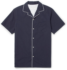 Officine Generale - Dario Japanese Cotton-Voile Contrast-Piped Shirt