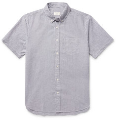 Club Monaco Button-Down Collar Cotton-Seersucker Shirt