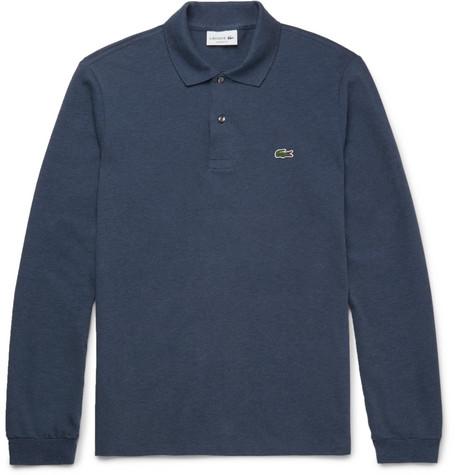 Cotton-piqué Polo Shirt - Blue