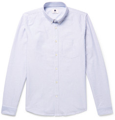 NN07 Sixten Slim-Fit Button-Down Collar Striped Cotton Oxford Shirt