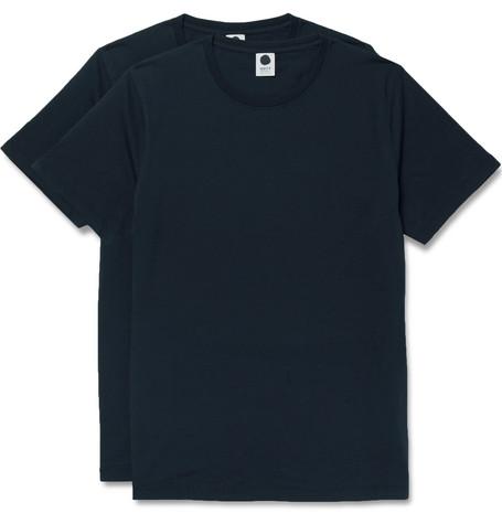 NN.07 Two-pack Pima Cotton-jersey T-shirts - Storm blue yecnNRK8u