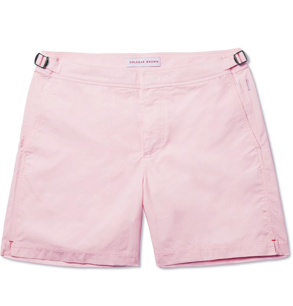 Bulldog Mid-length Swim Shorts - Pink