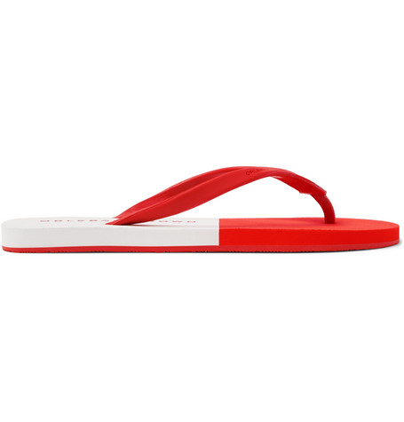Orlebar Brown Flip Flops Haston Red White