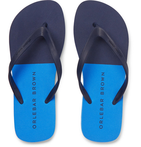Haston Rubber Flip Flops - GrayOrlebar Brown xuF61RgJ