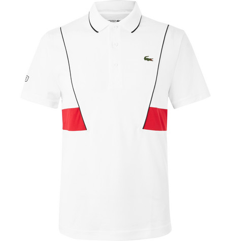 bd1886c2a Lacoste Tennis Novak Djokovic PiquÉ Tennis Polo Shirt In White ...