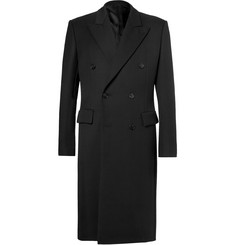 Balenciaga Double-Breasted Virgin Wool Cavalry Twill Coat