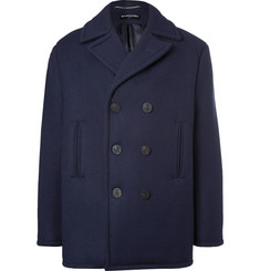 Balenciaga - Double-Breasted Padded Virgin Wool Peacoat