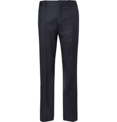 Balenciaga Navy Skinny-Fit Herringbone Virgin Wool Suit Trousers