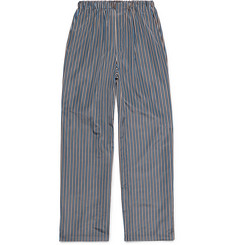 Balenciaga Wide-Leg Striped Faille Trousers