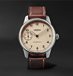 Weiss - Special Issue 42mm Stainless Steel and Leather Field Watch