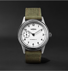 Weiss - Automatic Issue 38mm Stainless Steel and CORDURA Field Watch