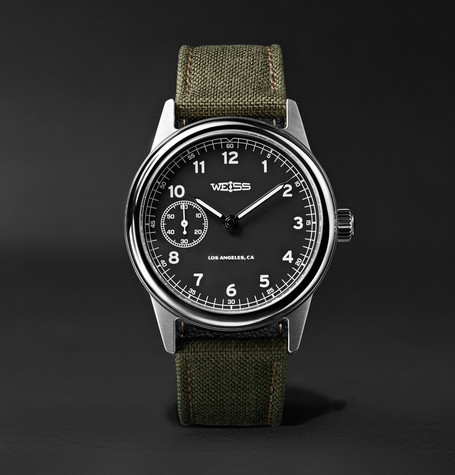Automatic Issue 38mm Stainless Steel And Cordura Field Watch