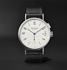 NOMOS Glashütte - Tangomat GMT Automatic 40mm Stainless Steel and Cordovan Leather Watch