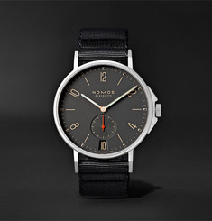 NOMOS Glashütte Ahoi Atlantik Datum Automatic 40mm Stainless Steel and Nylon Watch, Ref. No. 553