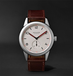 NOMOS Glashütte - Club Automat Automatic 40mm Stainless Steel and Cordovan Leather Watch