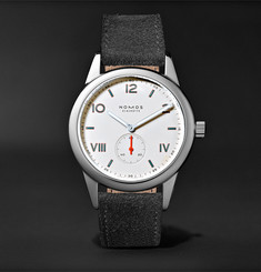 NOMOS Glashütte Club 38 Campus 38mm Stainless Steel and Leather Watch