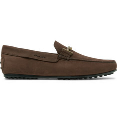 Tod's City Gommino Nubuck Loafers