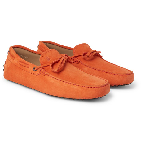 7f0ca53fff5 Tod s Gommino Suede Driving Shoes - Orange