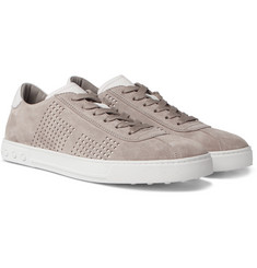Tod's - Perforated Suede and Leather Sneakers