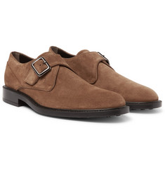 Tod's - Suede Monk-Strap Shoes