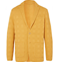 Altea Marigold Textured-Cotton Blazer