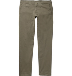 Altea Slim-Fit Tapered Stretch-Cotton Twill Trousers