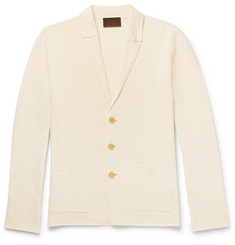 Altea Linen and Cotton-Blend Cardigan