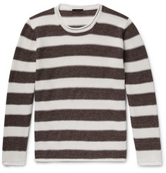 Altea Striped Linen and Cotton-Blend Sweater