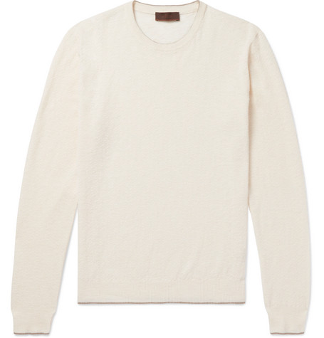 Linen And Cotton-blend Sweater - Cream