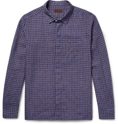 Altea Slim-Fit Checked Linen Shirt