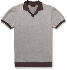 Altea Slim-Fit Textured-Cotton Polo Shirt
