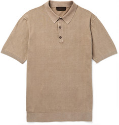 Altea - Linen and Cotton-Blend Polo Shirt