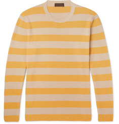 Altea Striped Textured-Cotton Sweater