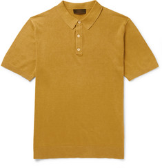 Altea - Slim-Fit Linen and Cotton-Blend Polo Shirt