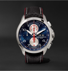 Baume & Mercier - Clifton Club Shelby Cobra Chronograph 44mm Stainless Steel and Leather Watch