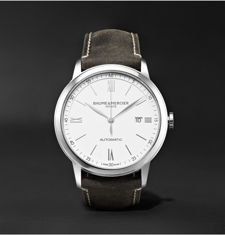 Classima Automatic 42mm Stainless Steel And Leather Watch - White