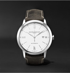 Baume & Mercier Classima Automatic 42mm Stainless Steel and Leather Watch