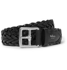 Mulberry - 3cm Black Woven Leather Belt