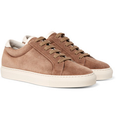 Brunello Cucinelli - Apollo Leather-Trimmed Suede Sneakers