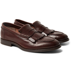 Brunello Cucinelli Leather Kiltie Loafers