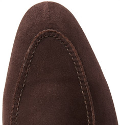 Edward Green - Fulham Suede Monk-Strap Shoes