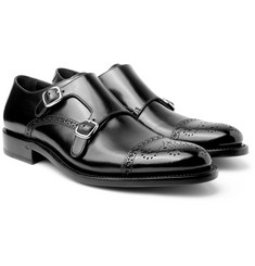 O'Keeffe - Bristol Polished-Leather Monk-Strap Shoes