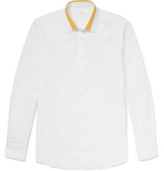 Joseph John Contrast-Collar Cotton-Poplin Shirt