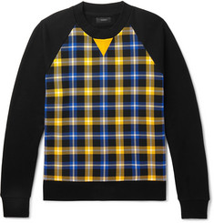 Joseph Checked Cotton-Jersey Sweatshirt