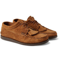 Yuketen - Textured-Leather Kiltie Derby Shoes