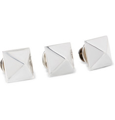 Bunney - Set of Three Sterling Silver Pyramid Stud Pins