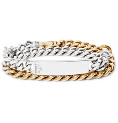 Bunney - Gold-Dipped Sterling Silver ID Wrap Bracelet