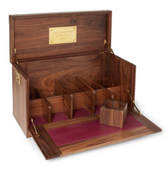 James Purdey & Sons Walnut and Leather Bar