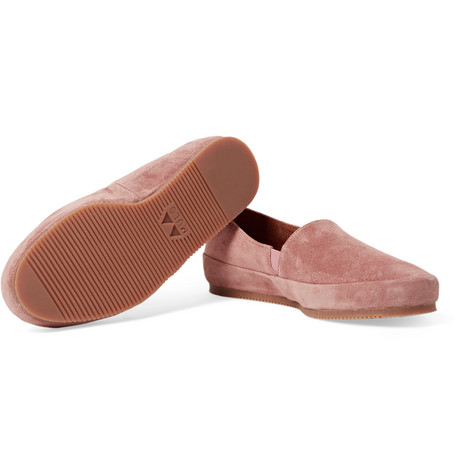 Suede Backless Loafers - BeigeMulo SQJz9