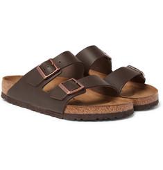 버켄스톡 아리조나 샌들 Birkenstock Arizona Leather Sandals,Dark brown